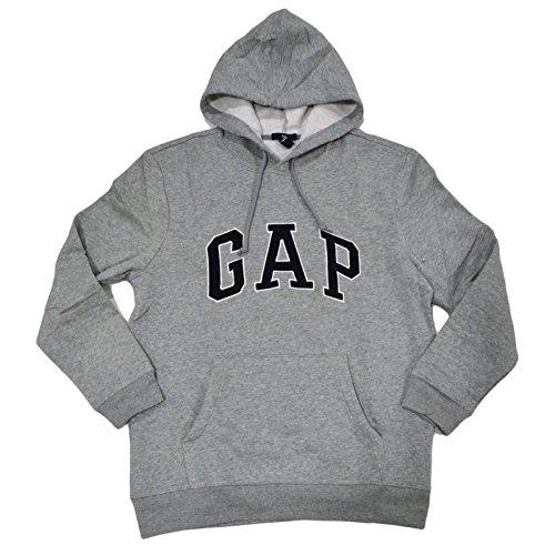 Gap Hoodie (Gap Herren Fleece Arch Logo Pullover Hoodie (Small, Grau))