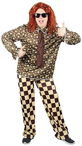 es 70er Jahre Hippie Freak Kostüm für Herren | Größe X, M, L, XL und XXL | Anzug Disco Dancer Groovy Herrenkostüm Hippiekostüm, Größe:S (Herren Groovy Dancer Kostüm)