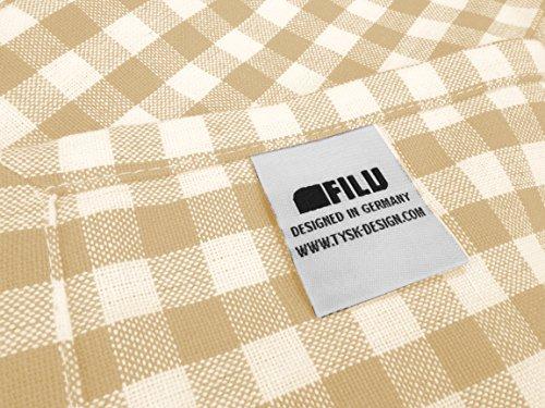 FILU Servietten 4er-Pack Beige / Weiß (Farbe wählbar) Stoffserviette aus 100 % Baumwolle, 45 x 45 cm, elegant kariert 1 x 1 cm im...