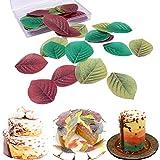 Decoración para tarta de papel de arroz comestible multicolor para Navidad, Pascua, San Valentín