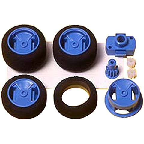 Narrow One-Way Wheel Set Mini 4WD Grade Up Parts (One Way Kit)