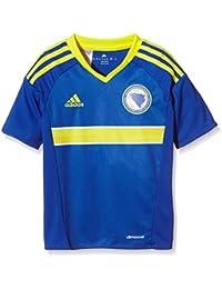 Adidas niño de Manga Corta Camiseta de Bosnia-Herzegovina Replica Azul Bold Blue/Bright