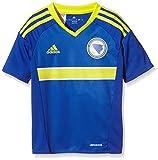 adidas Jungen Kurzarm Heimtrikot Bosnien-Herzegowina Replica, Bold Blue/Bright Yellow, 128
