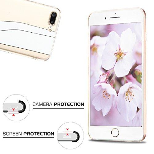 Coque iPhone 7 Plus, iPhone 7 Plus Etui , CaseLover Licorne Motif Mode Etui Coque TPU Slim pour Apple iPhone 7 Plus (5.5 pouces) Mode Flexible Souple Soft Case Couverture Housse Protection Anti rayure Fille