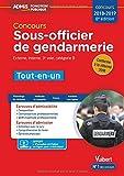 Concours Sous-officier de gendarmerie - Catégorie B - Tout-en-un - Concours 2018-2019