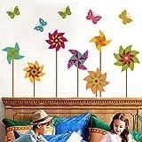 Amazon Brand - Solimo PVC Vinyl Bedroom Wall Sticker (Pinwheel Design Pattern, Ideal Size on Wall: 87 x 89 cm)