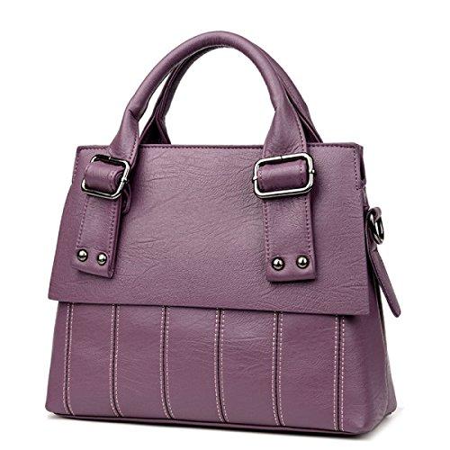 Sacchetto Del Messaggero Della Spalla Dell'unità Di Elaborazione Della Borsa Casuale Delle Donne Purple