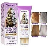 Purple Shampoo, No Yellow Shampoo, Idratante per capelli Brassy, Silver & color, capelli decolorati e schiariti, toner per capelli decolorati-100ML