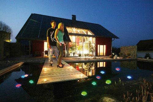 ANSMANN Aqualight LED-Unterwasserleuchte - Beleuchtung für Pool Badewanne Wellness Teich Party - Stimmungslicht wasserfest schwimmfähig (2er Pack) - 4