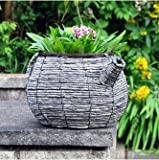 Picture Of Kingfisher Wicker Teapot planter