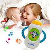 Musical Baby Feeding Bottle For Baby Musical Toy With Light Bottle Shape Toy For Toddles Funny Milk Bottle With Sound And Light, Child Musical Feeding Bottle With Sucking Sound Alphabet Learning Papa Mumma Laughing Crying Sound Toy