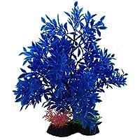 Xiton Plantas Artificiales Acuario Aquascaping Tanque decoración Plantas plásticas pecera decoración Vivid simulación Planta Criatura Acuario Paisaje-Azul