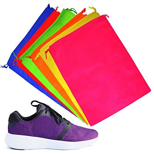 b7720a410 6 Bolsas de Almacenamiento con Cordón - Bolsa para Calzado, Fundas Zapatos  - Colores Surtidos