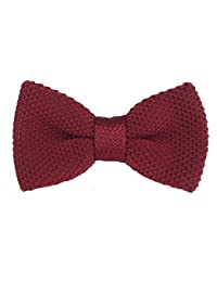 Dark Red Knitted Bow tie