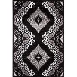 """Sona-Lux diseño de Alfombras negro """"Seleccionar el tamaño"""" 200 x 290 cm"""