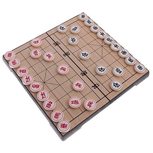 T Tocas Ajedrez chino con magnético Set de Viaje, xiangqi con cajón (Medio (tablero de ajedrez 250 x 250 x 20 mm))