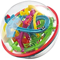 NEEGO 3D Laberinto Bola 12cm Pelota Pasatiempos con Laberinto 4.7 pulgadas Juegos de Educación Mágica Rompecabezas Intelecto Bola Laberinto para Niños Adultos 12cm / 4.7 pulgadas