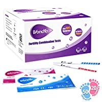Wondfo 50 Ovulation Test Strips and 20 Pregnancy Test Strips Kit - Rapid Test Detection for Home Self-Checking (50 LH + 20 HCG)
