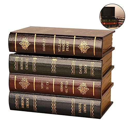 Loveinwinter Buchförmige BoxRetro Home Schmuck Aufbewahrungsbox Gefälschte Buch Dekoration