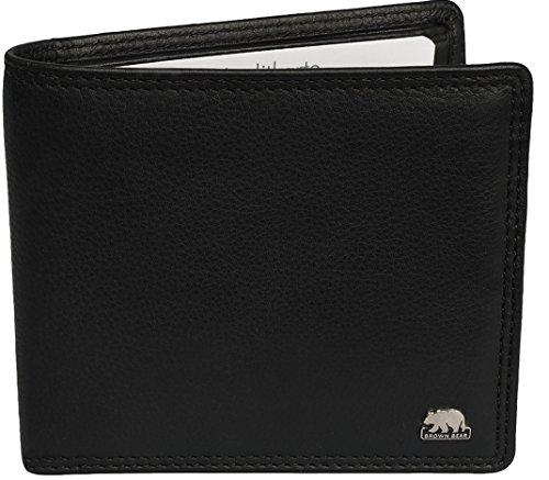 Preisvergleich Produktbild Brown Bear Geldbörse Herren Leder schwarz ohne Münzfach 1409