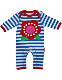 Toby Tiger Sleepsuit Applique Flower Girl's Baby Grow