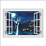 Venmo Happy Halloween Haushalt Zimmer Wandaufkleber Wandbild Dekor Aufkleber Removable Terror Emulation Landschaft 3D Wandsticker Wohnzimmer Schlafzimmer Kinderzimmer Haus Dekoration (Multicolor)