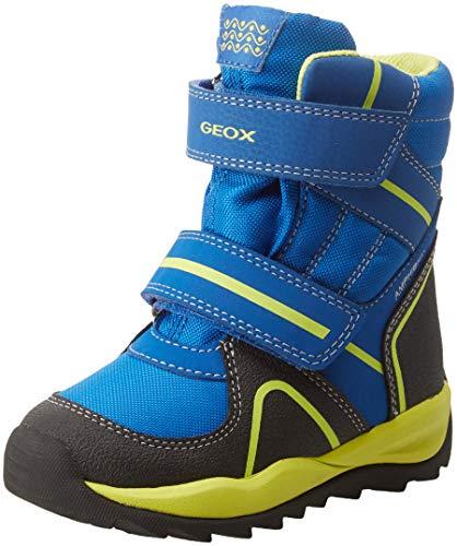 Geox Jungen J Orizont Boy ABX B Schneestiefel, Blau (Royal/Lime C4344), 35 EU