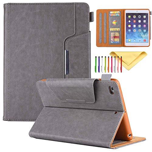Uliking iPad Mini 4, iPad Mini 4321Fall, PU Leder Smart Cover mit Auto Sleep/Wake Standfunktion Kartenfächer Schutzhülle Shell für Apple iPad Mini 4. 3. 2nd 1th Gen Tablet