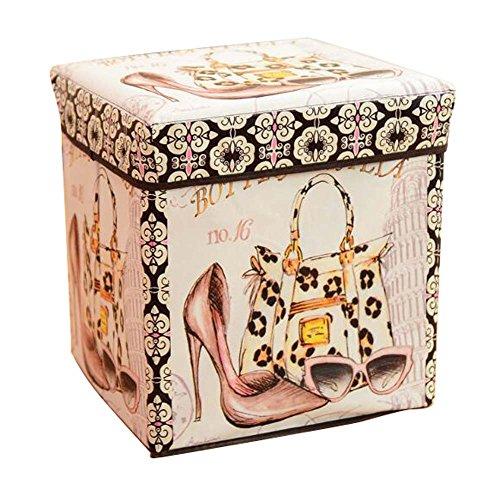Haushaltsspeicher Hocker Spielzeug Aufbewahrungsbox Multifunktionale Lagerung Stuhl-A2