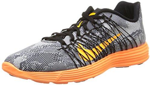 Nike Lunaracer+ 3, Scarpe sportive, Uomo Black/Lsr Orng-Ttl Orng-White