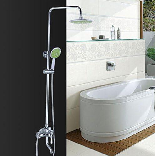 Caribou Set in ottone regolabile in altezza in bagno Miscelatore la pioggia di lusso Miscelatore bagno doccia a pioggia sistema di massaggio con getti Cromo lucido e726b7