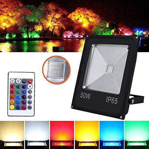 Hengda® LED RGB 50W Fluter Außen Scheinwerfer Wasserdicht Objektbeleuchtung mit Fembedienung