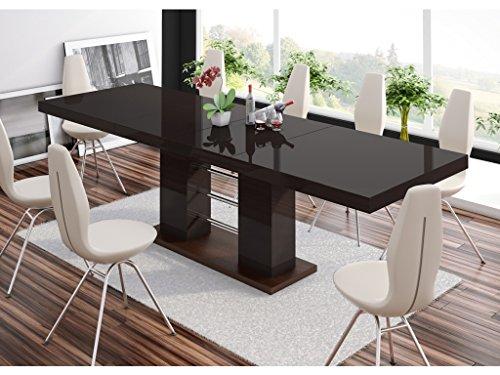 TABLE A MANGER DESIGN EXTENSIBLE 210÷260 CM X P : 89 CM X H: 75 CM – BRUN