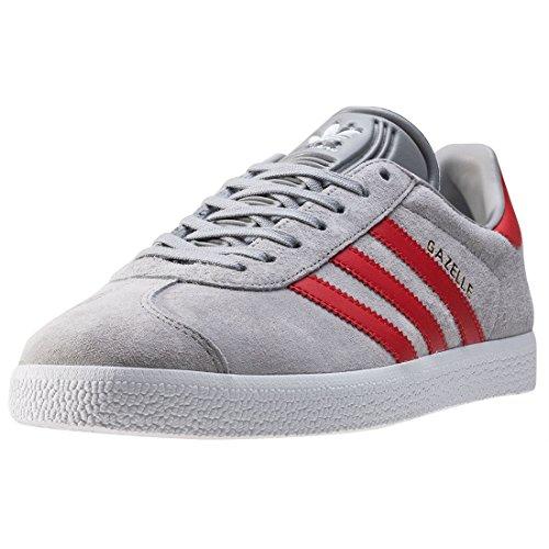 Adidas - Adidas Gazelle J Scarpe Sportive Grigie e Rosse grigio rosso