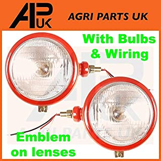 APUK Massey Ferguson Headlight Pair Head Lamp Light 35 65 765 David Brown Tractor 990