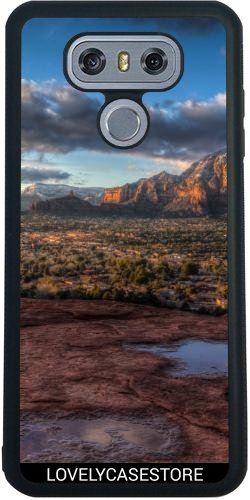 SilikonHülle für LG G6 - Grand Canyon Wüste USA USA Arid Cactus Sonnenuntergang