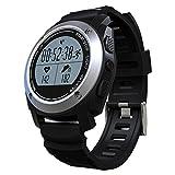 Smartwatch Armbanduhr, Distanzrechner und Smart Sportuhr, Heart Rate Monitor, Ios Kompatibel, 1,1 Zoll runder Touchscreen, Fernbedienung, Armbanduhr, Schwarz