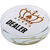 D DOLITY Kristall All-in Poker Chips Dealer für Poker Spiel