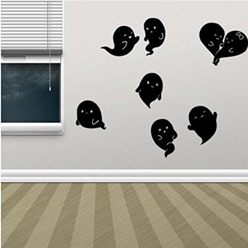 (Forthery Halloween, Halloween DIY Abnehmbarer Spiegel Wand Aufkleber Wohnzimmer Dekor Neu Art Deco 60cm*56.6cm C)