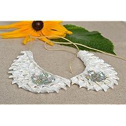 Cuello postizo hecho a mano accesorio de moda regalo original para mujer