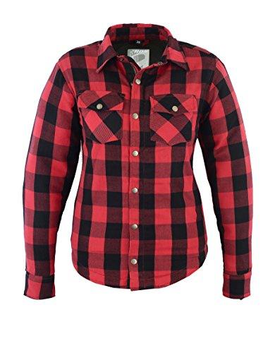 Lumberjack Damen Jacken-Hemd, Reißfest, Wasserabweisend, Rot Kariert, Größe 38, ROT
