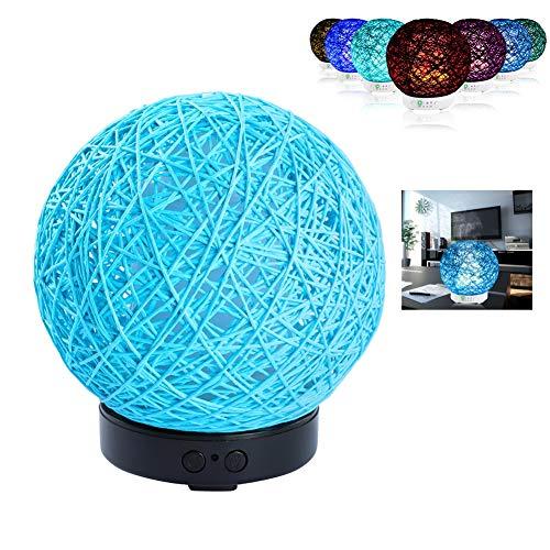 MJLXY Aroma Öl Diffuser, Aromatherapie-Maschine Diffusor mit 7 Farben LED Vernebler Duftlampe 120ml, Luftbefeuchter geeignet für Wohnzimmer, Büro, Yoga, Spa usw,Blau