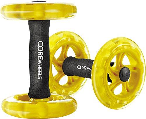SKLZ APD-CW01-02 Trainingsrollen Bauchtrainer Core Wheels black/yellow
