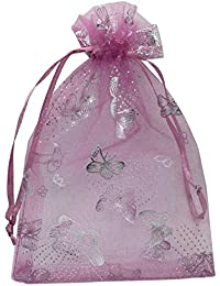 DMS Retail Return Gift Bags Organza Bags Return Gift Favours Shagun Favours Shagun Pouch Bags Wedding Party Favor Jewellery Packing Pouch Dry Fruit Pouch 13x12 cms Mix Colors (Pack of 50 Bags)