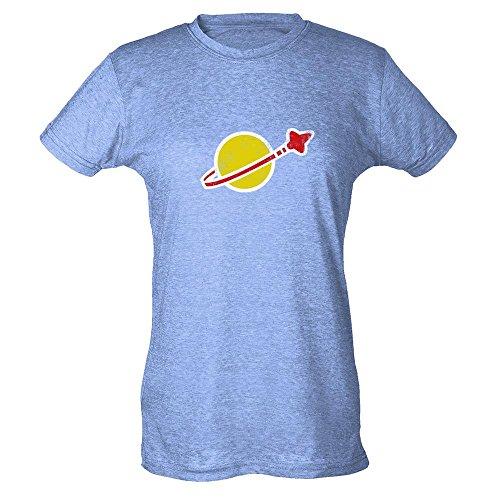 Pop Threads Herren T-Shirt Heather Blue