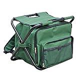 VARILANDO Falt-Hocker mit integrierter Umhängetasche und Kühlfunktion Angel-Hocker Camping-Hocker