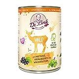 Dr. Link SUPER Natural Wild mit Pastinake, Aroniabeeren und Waldkräutern |6 x 400 g | Nassfutter für Hunde