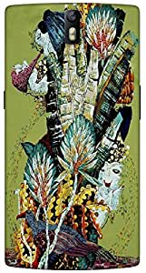 Timpax protective Armor Hard Bumper Back Case Cover. Multicolor printed on 3 Dimensional case with latest & finest graphic design art. Compatible with One Plus One ( 1+1 ) Design No : TDZ-22061