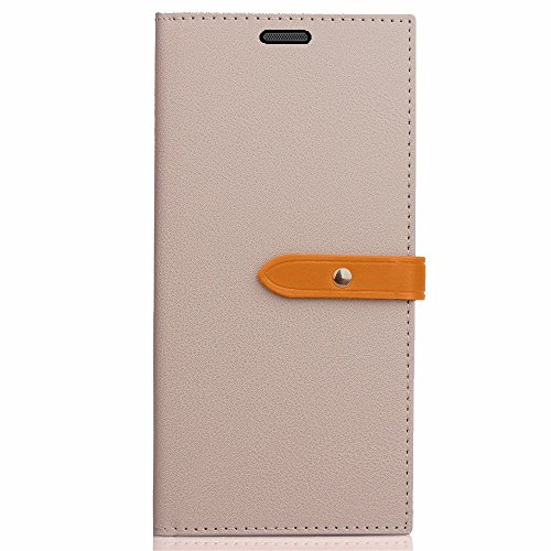 Business Style Mixed Farben Slim Design PU Ledertasche Brieftasche Stand Case [Shockproof] mit Niet Echtes Leder Gürtelschnalle & Kickstand & Card Slots für Huawei P10 Lite ( Color : Wine ) Gray