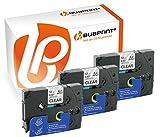 Bubprint 3 Schriftbänder kompatibel für Brother TZE-131 TZE 131 für P-Touch 1280 2430PC 2730VP 3600 9500PC 9700PC D400VP D600VP H100LB H105 P700 P750W